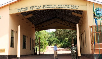 Entrance to the Ngorongoro Conservation area.