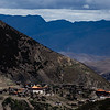 Temple complex in the mountains of Sichuan province in China.