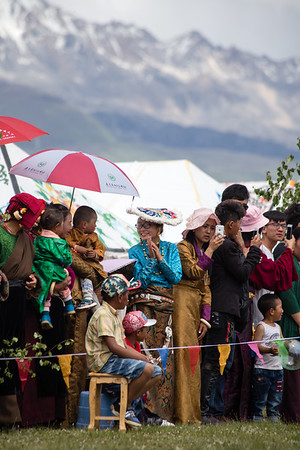 Spectators at a Tibetan horse festival in the town of Tagong in Sichuan, China.