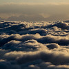Above the clouds during sunrise at Emei Holy Mountain in Sichuan, China.