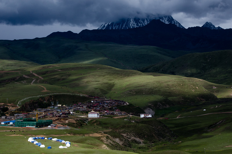 Clouds roll in over a monastic community near the town of Tagong in Sichuan, China.