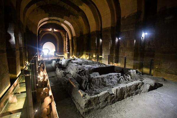 Inside the tomb of Wang Jian in Chengdu, Sichuan, China.