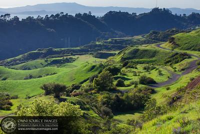 Sibley Volcanic Regional Preserve Hillsides in Spring.