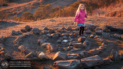 Walking The Spiral at Sibley Volcanic Regional Preserve.
