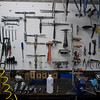 Drew's frame tool workbench.  I wish my bench was that neat.