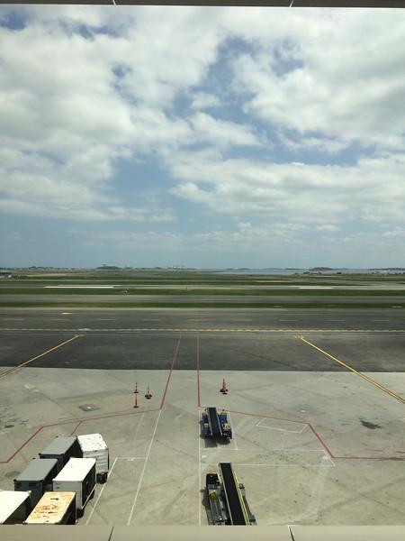 Boston Harbor from Logan Intl Airport