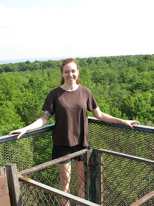 Reba on Mt. Davis tower