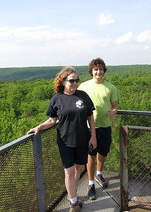 Teri and Nathan on Mt. Davis tower