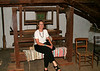 Jean Hasbrouck house ~ Mary sitting at old loom
