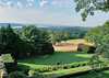 Rockefeller Estate grounds---view of the distant Hudson River