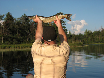 JF's northern pike on Oswegatchie River