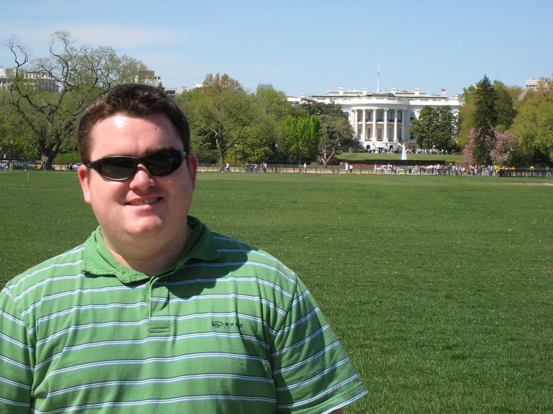 Me just standing around as usual in front of the White House.