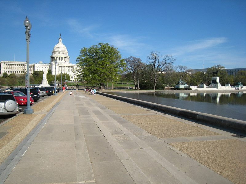 We decided to make the long walk to the Capitol building. It was a very long walk.