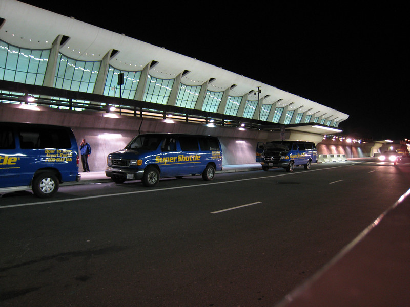 The front of Dulles Airport