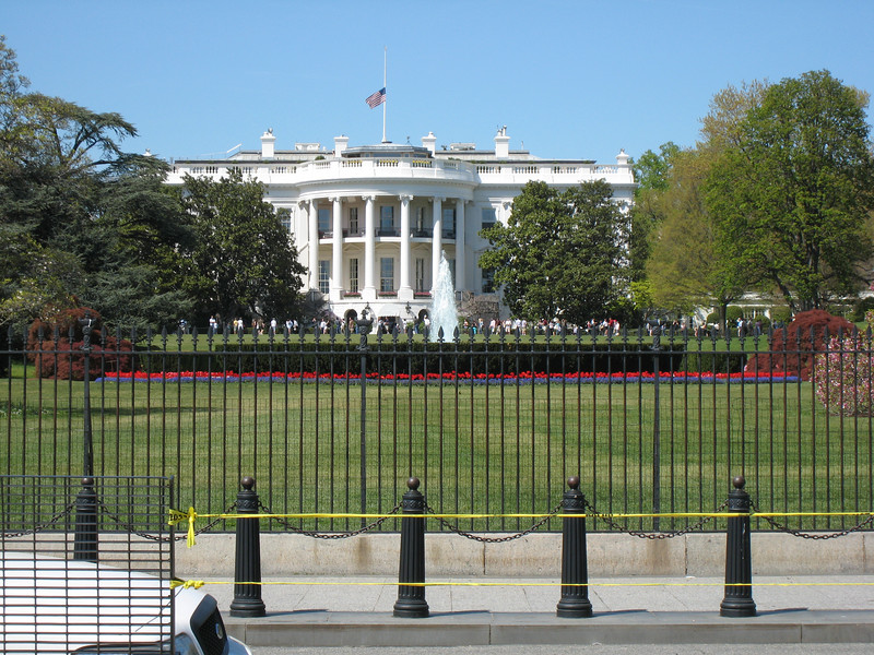 The White House from the front.