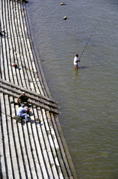 Fishing in the River Danube Budapest
