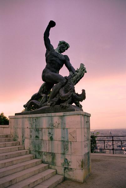 Statue in the Citadella Budapest