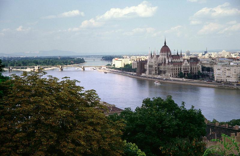 Budapest skyline and Parliament Building
