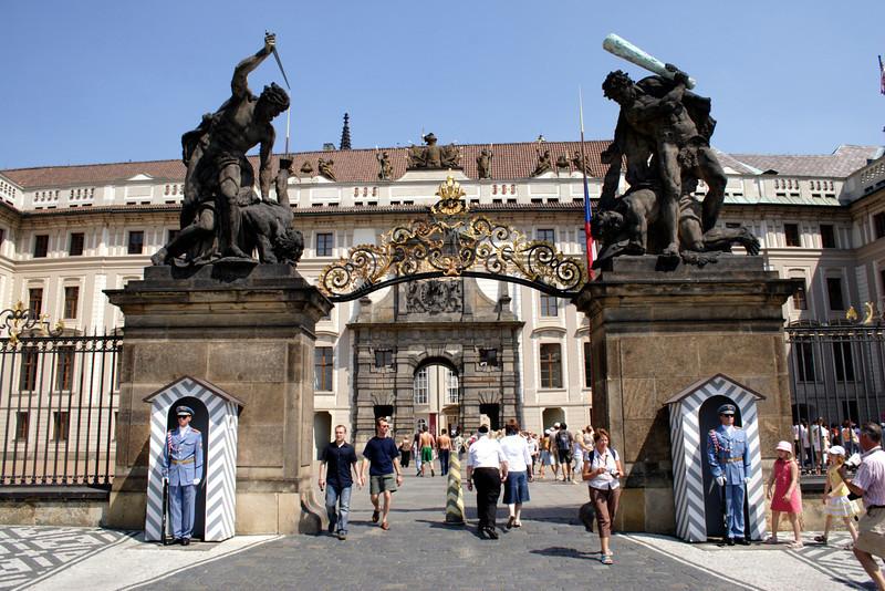 Main entrance gate to Prague Castle