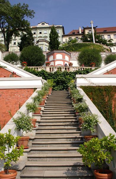 Steps up Ledebour Garden Prague