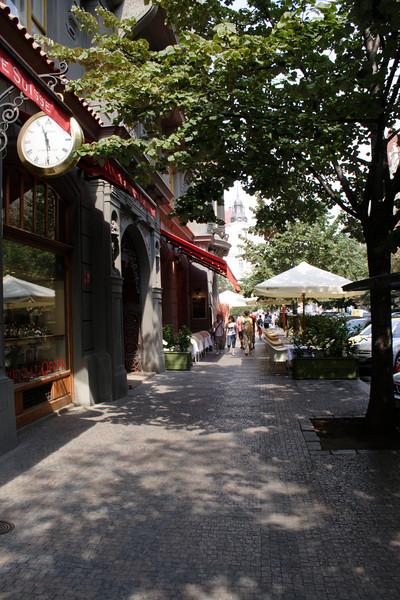 Street in Jewish Quarter Prague August 2007