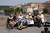 Band playing on Charles Bridge Prague