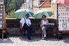 Street vendors on Charles Bridge Prague August 2007