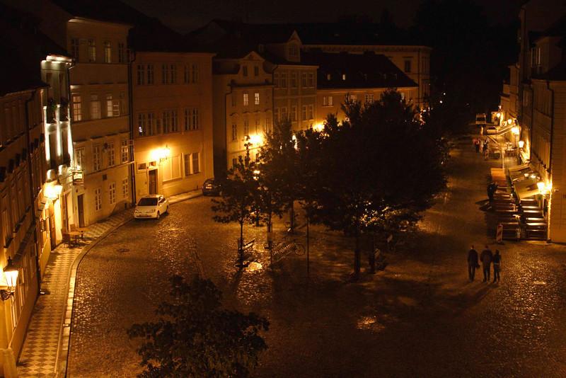 Little Quarter Riverside Prague at night August 2007