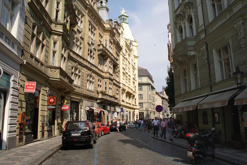 Street in Jewish Quarter Prague