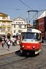 Tram in Little Quarter Square Prague