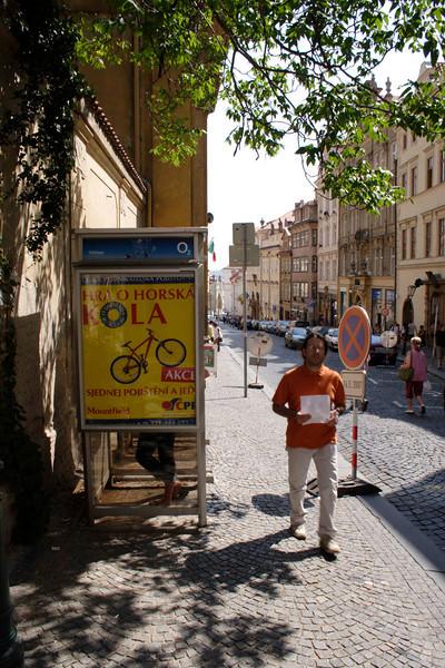 Public Telephone Box on Nerudova Street Prague August 2007