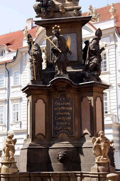 Base of Plague Column Little Quarter Prague