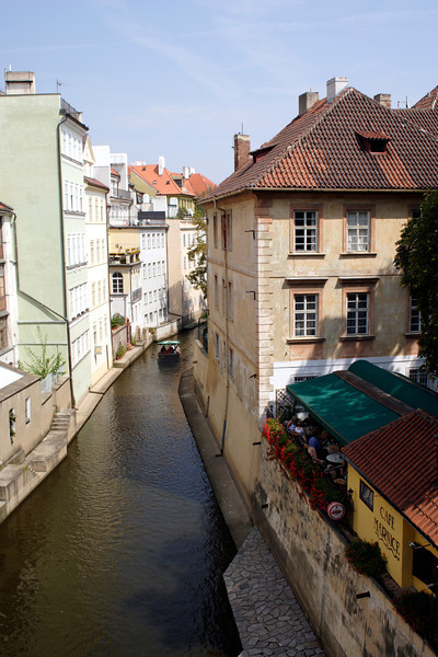The Devils Stream Prague Kampa Island on right
