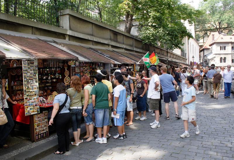 Street Market near the Old Jewish Cemetery Prague
