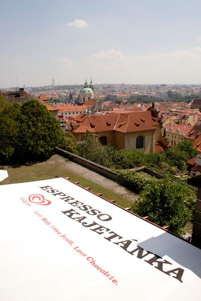 Prague skyline view from near Prague Castle