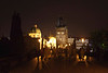 Charles Bridge Prague at night August 2007