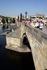 Tourists on Charles Bridge Prague
