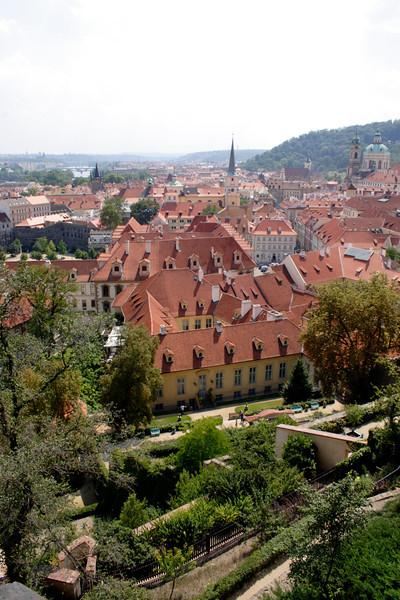 Prague skyline view from Hradcany