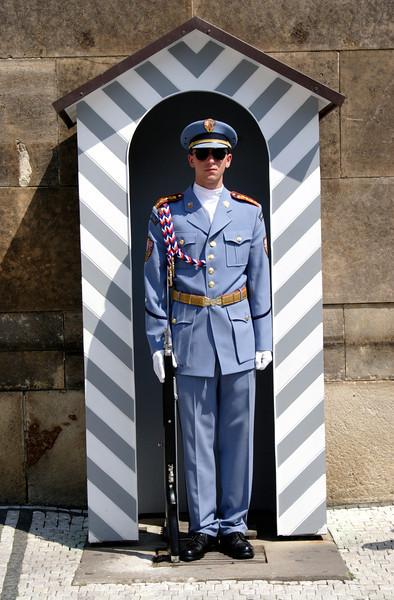 Guard at entrance to Prague Castle