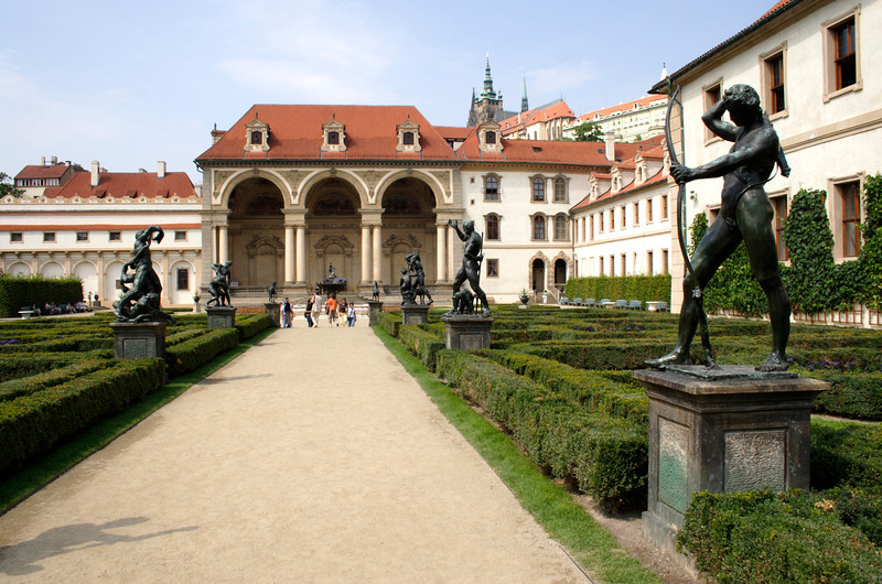 Avenue of sculptures Wallenstein Palace and Garden Prague