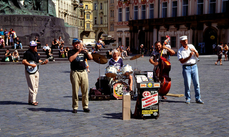 Street musicians Old Town Square Prague