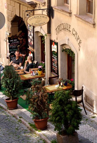 Cafe Little Quarter Prague August 2007