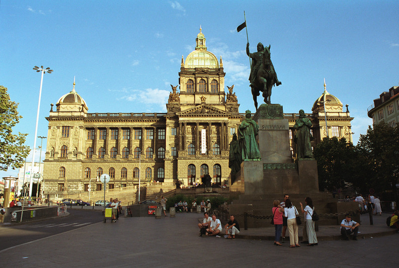 National Museum and statue of St Wenceslas Prague