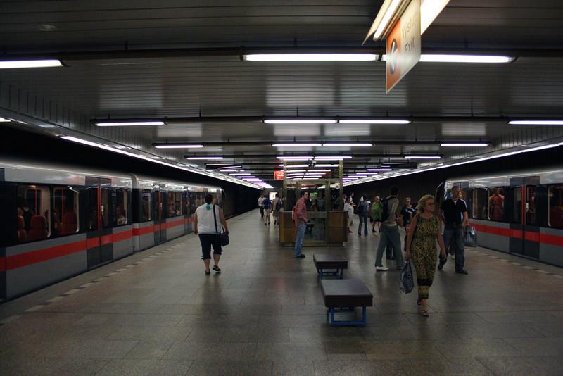 Platform at Vltavska Metro Station Prague