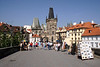 On Charles Bridge towards Little Quarter Prague