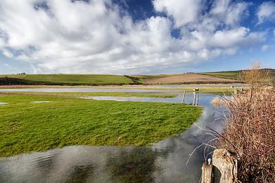 Cuckmere River flooded