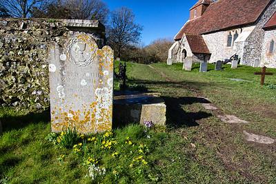 Friston churchyard