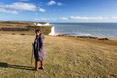 Lorna atop the cliffs