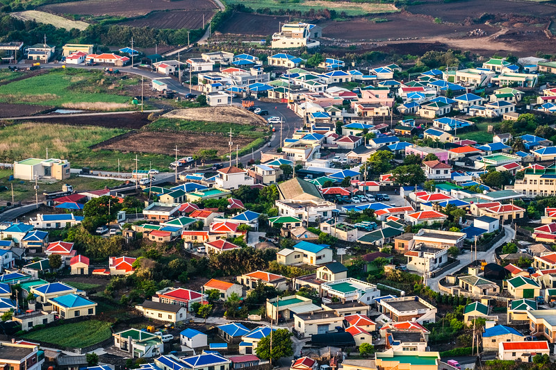 Colorful Jeju Rooftops