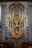 This is the lovely bluish interior of the Frauenkirche, the most famous landmark in Dresden.<br /> IMG_5934